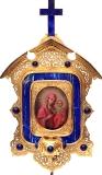 Богоматерь Иверская, в литой бронзовой раме-киоте