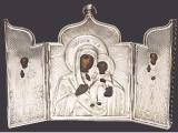 Складень «Богоматерь Иверская», «Св.Николай Чудотворец», «Св.преподобный Сергий Радонежский»