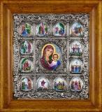 Икона «Казанская Богоматерь» с житием