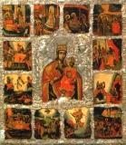 Икона «Богоматерь Рудненская с праздниками».