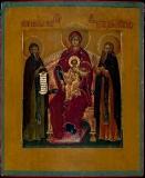 Печерская (Свенская)  :: Печерская икона Божией Матери с предстоящими