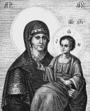 Попская икона Богородицы :: Икона Богоматери Попской-Хиландарской
