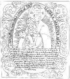 Прорись иконы Богородицы