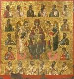 Икона Божией Матери Всецарица с предстоящими