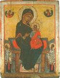 Богородица с Младенцем на престоле, с предстоящими