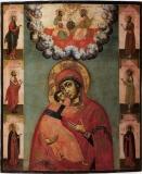 Владимирская Богородица :: Владимирская с избранными святыми