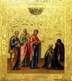 Икона «Явление Богородицы Преподобному Сергию Радонежскому»