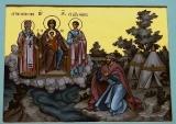 Явление Богородицы мурзе Чёту :: Явление Божьей Матери с предстоящими апостолом Филиппом и священномучеником Ипатием Гангрским мурзе Чёту