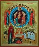 Явление Богородицы Александру Свирскому :: Икона Пресвятой Богородицы