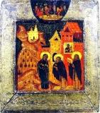 Явление Богородицы преподобному Кириллу Белозерскому в Симоновском монастыре :: Икона Пресвятой Богородицы